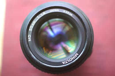 美能达MD 50/1.4 多膜 后期版本 SONY A7 NEX 镜头