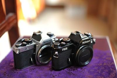 尼康/NIKON一代原祖版FM2 钛帘经典机械单反胶片相机(