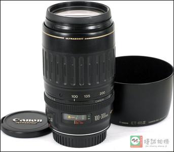 佳能 EF100-300/4.5-5.6 USM 镜头带原装遮光罩 【支持全幅】