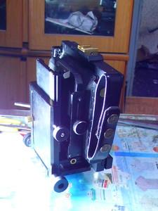 辉达4X5折叠双轨相机样机处理