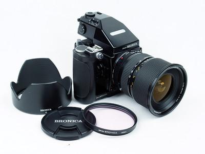 勃朗尼卡 BRONICA ETRsi +45-90镜头+ AE-III 测光  极美品!