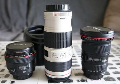 佳能97新70-200F4LIS,50L16-35LII镜头