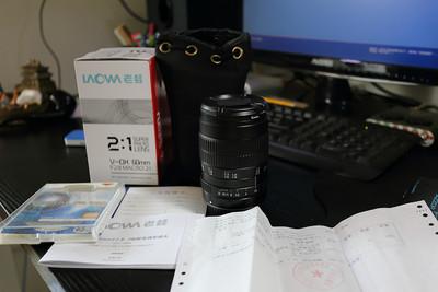 老蛙60MM2:1超级微距镜头(佳能口)+微距闪光灯套装+美