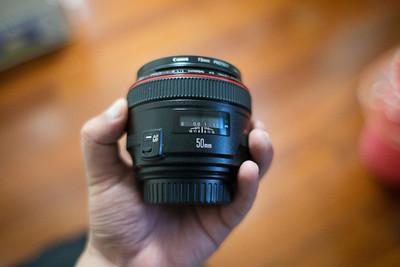 转让刚买佳能EF50 1.2,包括72mm正品卡色UV镜,最