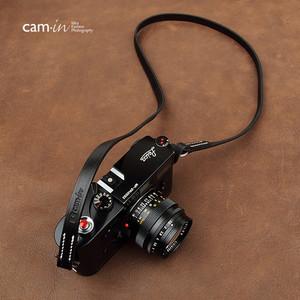 cam-in 手工真皮数码相机背带 莱卡 富士 索尼微单摄影肩带 CS214 (CAM2860)