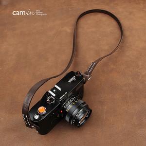 cam-in 手工真皮数码相机背带 莱卡 富士 索尼微单摄影肩带 CS214 (CAM2861)