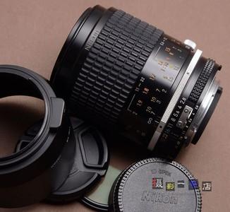 NIKON 尼康 105/2.8 AIS 微距镜头 105mm f2.8 带遮光罩 可转接