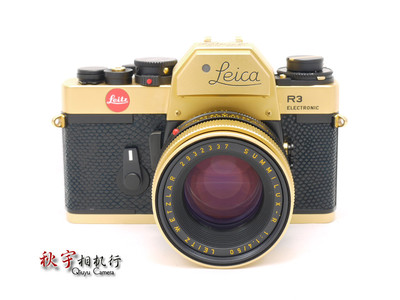 徕卡金机 Leica R3 Electronic 黄金限量纪念版 全套收藏级 99新