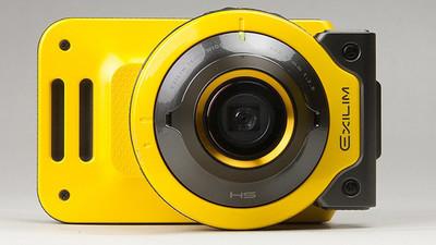 卡西欧(CASIO)EX-FR100 数码相机 黄色 (三防相机 镜头机身可分离 )