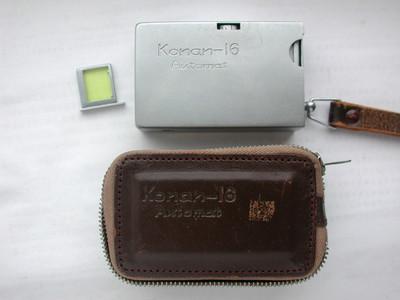 日产微型相机Konan-16 Automat!原装皮套和黄镜!