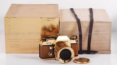 【收藏未使用品】CONTAX/康泰时 RTS+50/1.4 金机套装 #HK6402