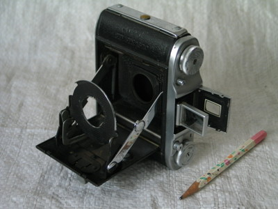 老式照相机 英国相机 军旗 ENIGN SELFIX 16-20 6*4.5的机身