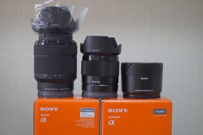 全新SONY SEL28F20+SEL075UWC(21mm廣角),購自香港授權店D BASE