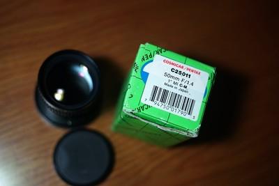 COSMICAR/PENTAX 50 1.4 C口电影头  索尼微单适用