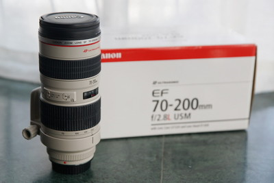 98新佳能 EF 70-200mm f/2.8L USM(小白),UZ编号,箱说全