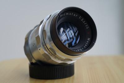 梅耶 Meyer Primotar 85mm f3.5 85/3.5 原生M42 极罕见白银