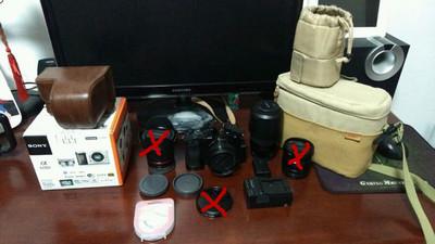 索尼 a6000双镜头套机+一大堆超值附件