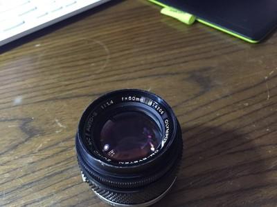 奥林巴斯50mmf /1.4手动老镜头