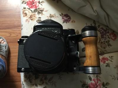 带原装手柄宾得67,105多层镀膜镜头