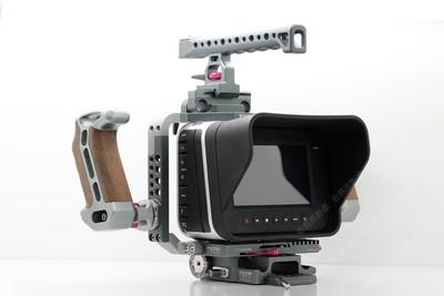 BMPC BMCC 4K佳能口专业摄像机带铁头整套附件灯光图瑞斯三脚架