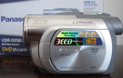 全新未使用的松下 VDR-D250GK摄像机