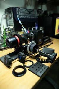 美国雷德洛克跟焦器,镜头架,云台托架电池盒架,曼福图背带