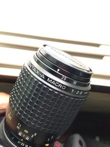 宾得A 100mm 2.8百微镜皇微距镜头 成色极佳 镜片三无