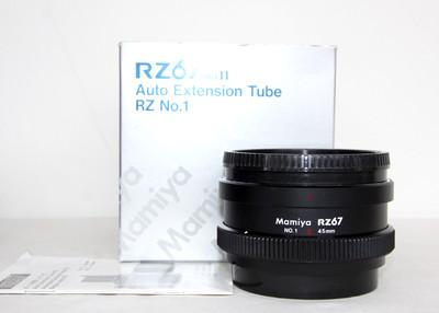 玛米亚 Mamiya RZ67用1号 45mm近摄环 带包装说明书 成色新净