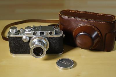 Leica IIIa + elmar 50/3.5 带原厂皮套 非iiif