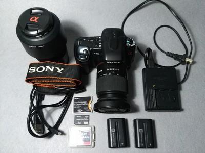 索尼 a350 个人闲置 双镜头套机 无拆无修无故障 快门次数仅766张