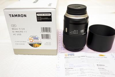 尼康口 腾龙 F017 新SP90mm F/2.8 VC 微距镜头,行货在保5年