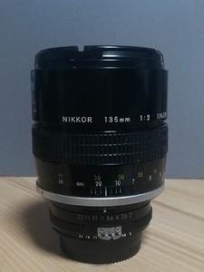 尼康 135mm 1:2 纯手动定焦镜头 尼康经典手动镜头 成色性能完美