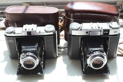两只 蔡司Tessar 75/3.5 6x6 折叠机 523