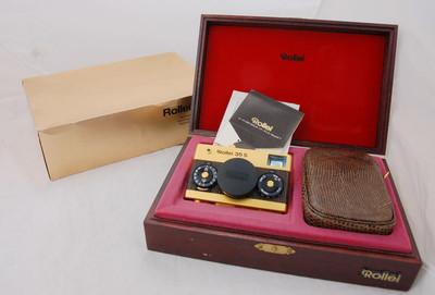 禄来 Rollei 35s 60周年纪念版金机,全套包装,收藏首选,极上品