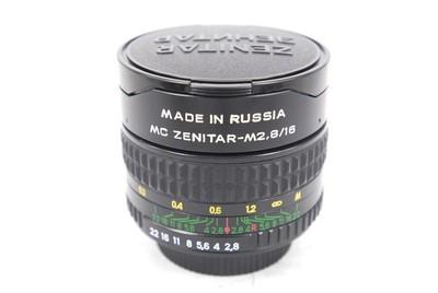 泽尼特 ZENITAR 16/2.8 鱼眼镜头,手动对焦,M42罗口.