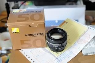 尼康 50 1.4D 95新 行货有包装  尼康50 1.8