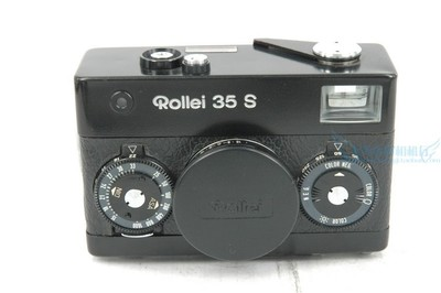 Rollei 35 S 旁轴胶片相机,黑色,带手绳.