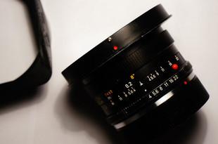 徕卡R21 f4超级安古洛镜头 可转接数码全副原厂遮光罩