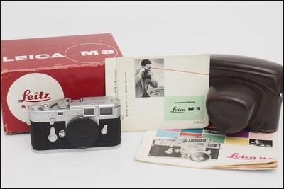 徕卡 Leica M3 银色 单次过片 经典旁轴M机 好成色 带包装 原厂皮套