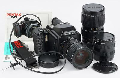 宾得Pentax 645 45-85f4.5 80-160f4.5 2X增倍 120中画幅胶片相机