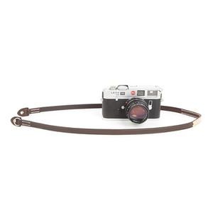 cam-in 纯手工缝制 真皮单反数码照相机背带 微单摄影肩带 CS215 (CAM2891咖啡色)