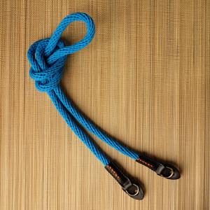 cam-in 全棉真皮时尚相机背带 圆孔型 数码微单 cam1300(CAM1308短款湖蓝色)