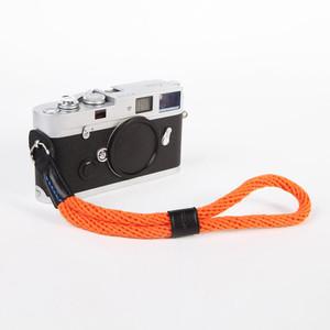 cam-in 真皮棉织相机手腕带 圆孔型 莱卡 富士 索尼 微单 WS022(cam3089橙色)