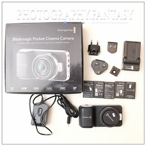 95新二手 blackmagic bmpcc raw无损格式口袋摄影机,带5个电池