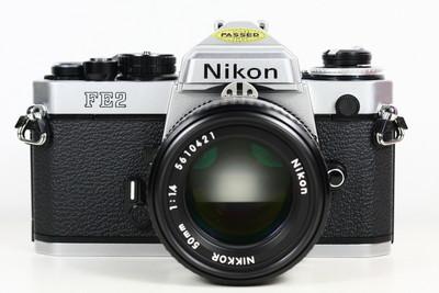 尼康 NIKON FE2 日产135胶片单反相机 +nikkor 50/1.4 钛帘 美品