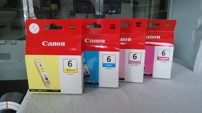 佳能9100打印机原装墨盒  6m,6pm,6c,6y各一个,个人闲置4支140