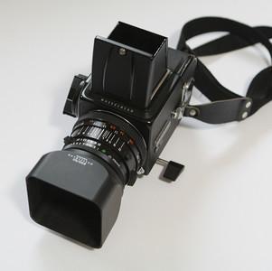 美品 哈苏Hasselblad 500C/M, 80cm/2.8 镜头 A12后背包含附件