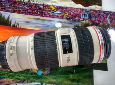 便宜出佳能70-200/4L IS 带原厂遮光罩 KASE MCUV 外观95新  镜片全新 无划痕