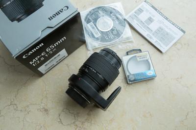 99新 佳能 MP-E 65mm f/2.8 1-5X微距镜头 65/2.8