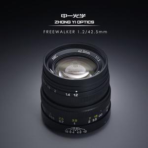 中一光学 42.5mm F1.2 m4/3画幅 MFT 超大光圈人像镜头